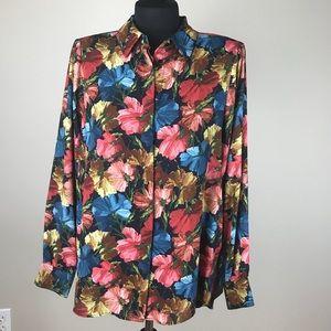 Zara Floral Print Blouse NWT